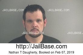 NATHAN T DAUGHERTY mugshot picture