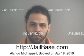 ALANDO M CHAPPELL mugshot picture