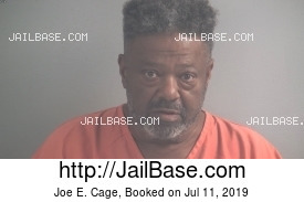 JOE E. CAGE mugshot picture