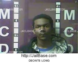 DEONTE LONG mugshot picture