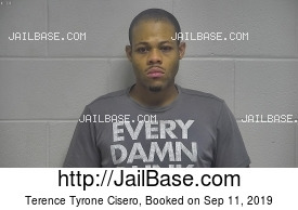 TERENCE TYRONE CISERO mugshot picture