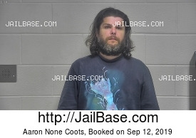 AARON NONE COOTS mugshot picture