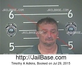 TIMOTHY A ADKINS mugshot picture