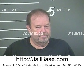 MARVIN E 158907 AS WOLFORD mugshot picture