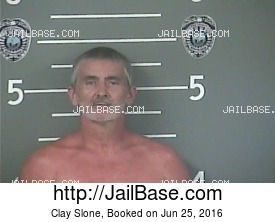 CLAY SLONE mugshot picture