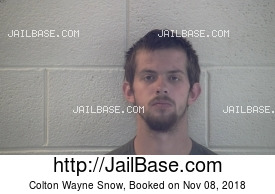 COLTON WAYNE SNOW mugshot picture