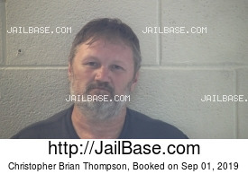 CHRISTOPHER BRIAN THOMPSON mugshot picture
