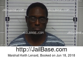 MARSHALL KEITH LENARD mugshot picture