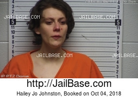 HAILEY JO JOHNSTON mugshot picture