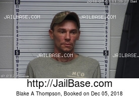 BLAKE A THOMPSON mugshot picture