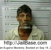 WILLIAM EUGENE MCCREERY mugshot picture