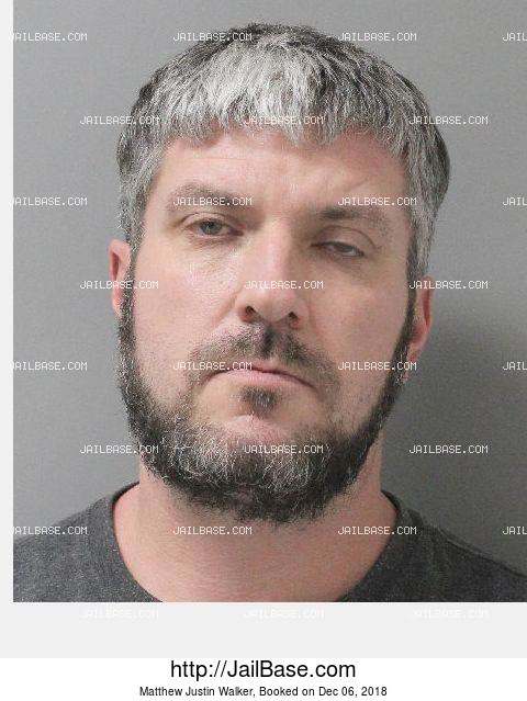 Matthew Justin Walker mugshot picture