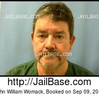 JOHN WILLIAM WOMACK mugshot picture