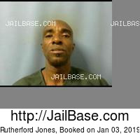 RUTHERFORD JONES mugshot picture