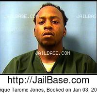 TYRIQUE TAROME JONES mugshot picture