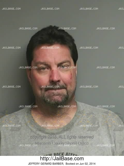 Barber Utah County : ... Arrest Records Michigan Macomb County June 2014 Jeffery Gerard Barber