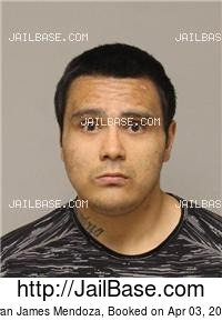 RYAN JAMES MENDOZA mugshot picture