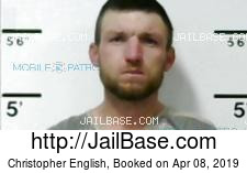 Christopher English mugshot picture