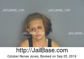 OCTOBER RENEE JONES mugshot picture