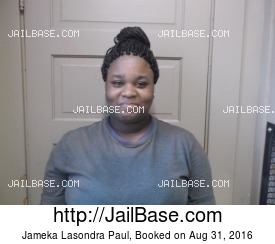 JAMEKA LASONDRA PAUL mugshot picture