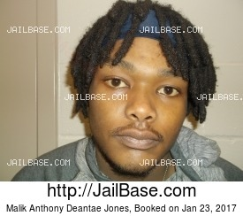 MALIK ANTHONY DEANTAE JONES mugshot picture
