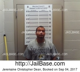 JEREMAINE CHRISTOPHER DEAN mugshot picture