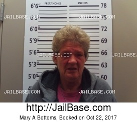 MARY A BOTTOMS mugshot picture
