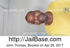 John Thomas mugshot picture
