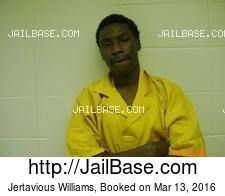 Jertavious Williams mugshot picture