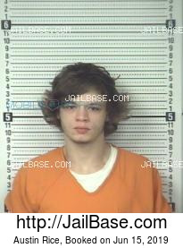 Austin Rice mugshot picture