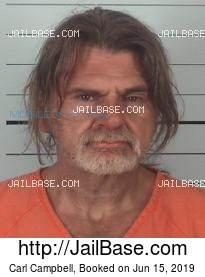 Carl Campbell mugshot picture
