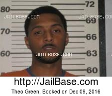 Theo Green mugshot picture