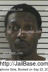 Stephone Sims mugshot picture