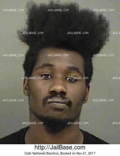 COLIN NATHANIEL BACCHUS mugshot picture