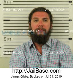 James Gibbs mugshot picture