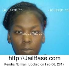 Kendra Norman mugshot picture