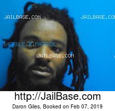 Daron Giles mugshot picture