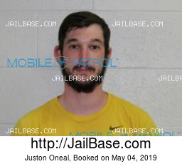 Juston Oneal mugshot picture