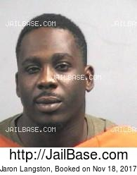 Jaron Langston mugshot picture