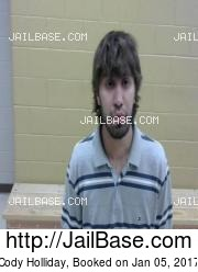 Cody Holliday mugshot picture