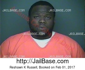 Reshawn K Russell mugshot picture
