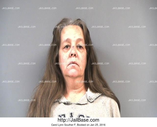 CAROL LYNN SOUTHER F mugshot picture