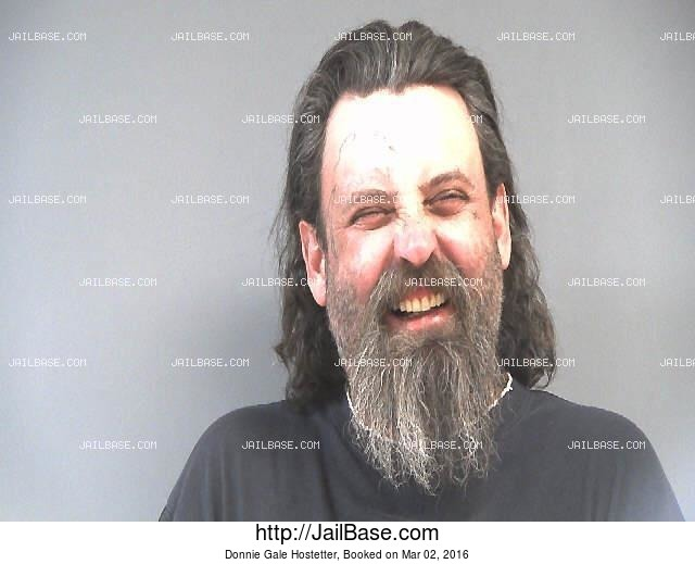 DONNIE GALE HOSTETTER mugshot picture