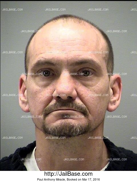 PAUL ANTHONY MIRACLE mugshot picture
