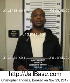 Christopher Thomas mugshot picture