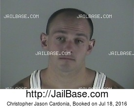 CHRISTOPHER JASON CARDONIA mugshot picture
