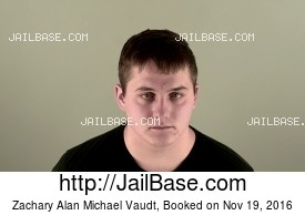 ZACHARY ALAN MICHAEL VAUDT mugshot picture