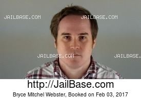 BRYCE MITCHEL WEBSTER mugshot picture