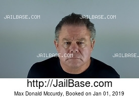 MAX DONALD MCCURDY mugshot picture