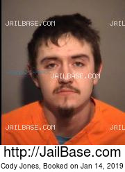 Cody Jones mugshot picture